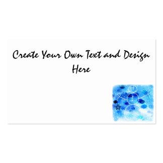 Muñeco de nieve azul del navidad tarjetas de visita