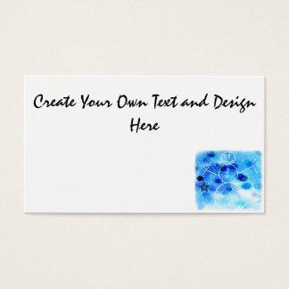 Muñeco de nieve azul del navidad tarjeta de visita