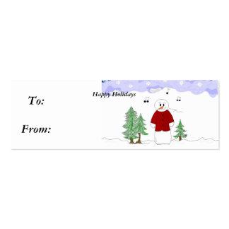 Muñeco de nieve cantante - Gifttag Plantilla De Tarjeta Personal