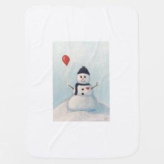 Muñeco de nieve con un bebé Blankey del globo Mantita Para Bebé