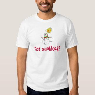 Muñeco de nieve conseguido de Sunblock Camiseta