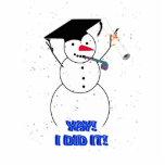 ¡Muñeco de nieve de graduación - YAY LO HICE! Esculturas Fotograficas