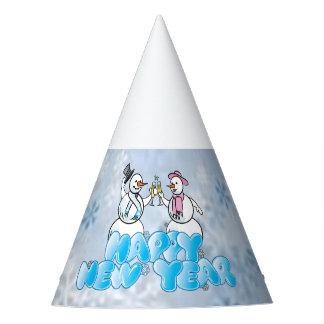 Muñeco de nieve de la Feliz Año Nuevo Gorro De Fiesta