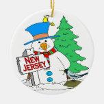 Muñeco de nieve de New Jersey Ornamente De Reyes
