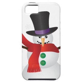 Muñeco de nieve del navidad con el ilustracion de funda para iPhone SE/5/5s