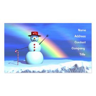 Muñeco de nieve del navidad - negocio tarjetas de visita