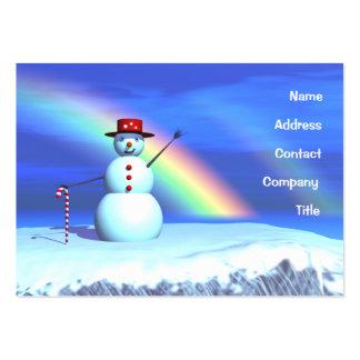 Muñeco de nieve del navidad - rechoncho tarjetas de visita grandes