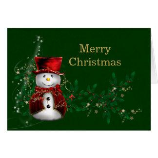 Muñeco de nieve del navidad tarjeta de felicitación
