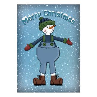 Muñeco de nieve divertido tarjetas de visita grandes