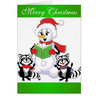Muñeco de nieve, Felices Navidad Tarjeta