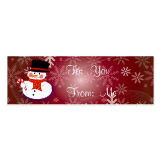 Muñeco de nieve feliz tarjetas de visita mini