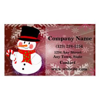 Muñeco de nieve feliz plantillas de tarjetas de visita