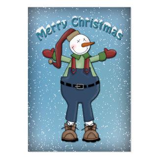 Muñeco de nieve lindo tarjetas de visita grandes