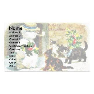 Muñeco de nieve que se coloca con las hojas y los  plantillas de tarjetas personales