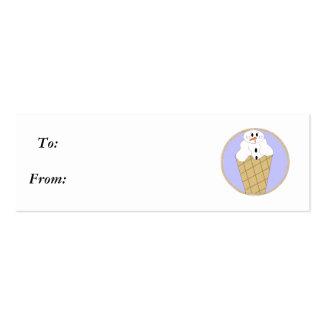 Muñeco de nieve Snowcone - Gifttag de Lil Plantillas De Tarjetas De Visita