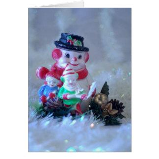 Muñeco de nieve tarjeta de felicitación