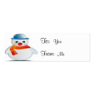 Muñeco de nieve tarjetas de visita mini