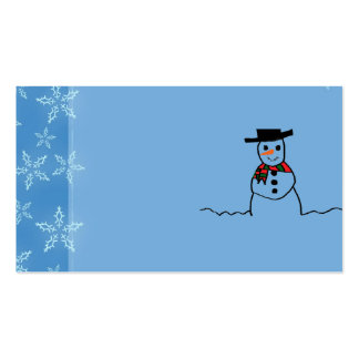 Muñeco de nieve tarjetas de visita