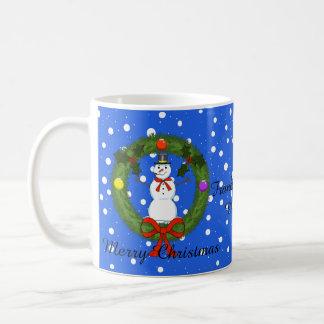 Muñeco de nieve una taza del navidad de la