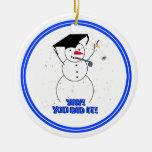 ¡Muñecos de nieve de graduación - YAY! ¡Usted lo h Ornato