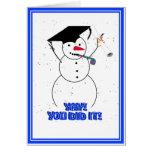 ¡Muñecos de nieve de graduación - YAY! ¡Usted lo h Tarjeta