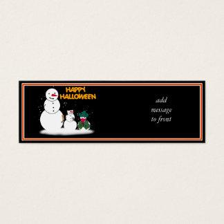 Muñecos de nieve de Halloween del truco o de la Tarjeta De Visita Mini