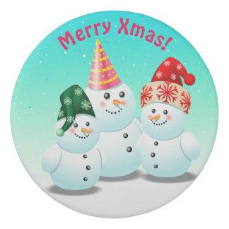 Muñecos de nieve escarchados frescos goma de borrar