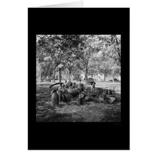 Munición confederada en Charleston 1865 Tarjeton