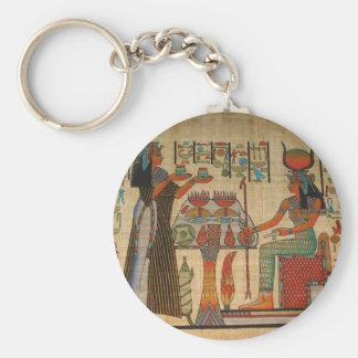 MURAL DE LA PARED DE EGIPTO ANTIGUO LLAVEROS