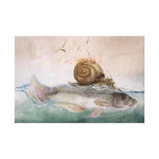 "Mural ""pez de caracol de árbol "" impresión en tela"