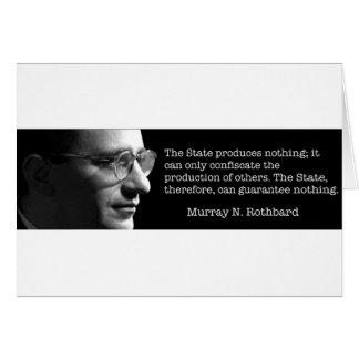 Murray Rothbard Tarjeta De Felicitación