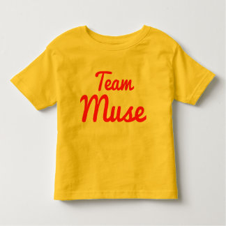Musa del equipo camisetas