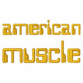 Músculo americano chaquetas bordadas