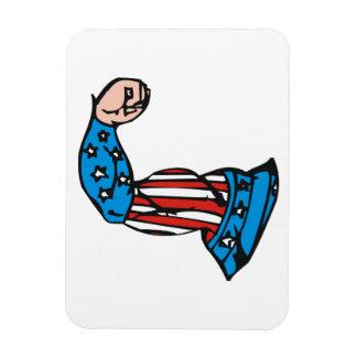 Músculo americano imanes rectangulares