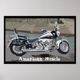 Músculo americano póster