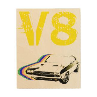 ¡Músculo de V8! Impresión En Madera
