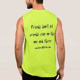 Músculo T w/slogan del color claro Camiseta