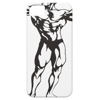 Músculos del hombre de la aptitud funda para iPhone SE/5/5s