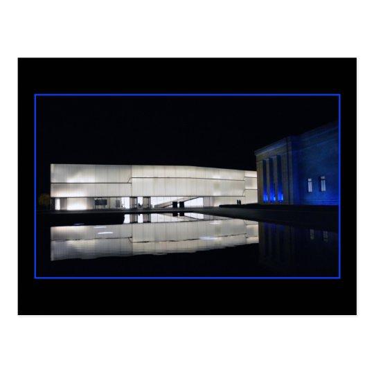 Museo de arte de Nelson-Atkins del azul real Postal