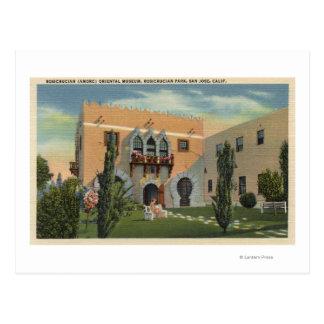 Museo de Oriental del parque de Rosicrucian Postal