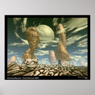 Museo de Starship - planeta Mandos 2902 Póster