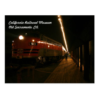 Museo del ferrocarril de California, postal