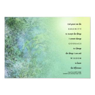 Musgo del rezo de la serenidad en rocas invitación 12,7 x 17,8 cm