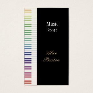 Music Store - tarjeta de visita