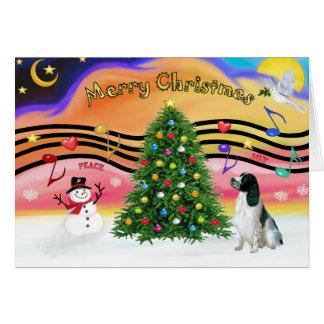 Música 2 del navidad - saltador inglés (BW) Tarjeta