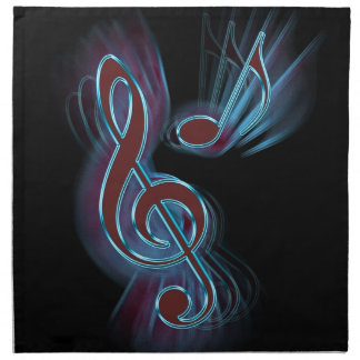Música abstracta servilleta de tela