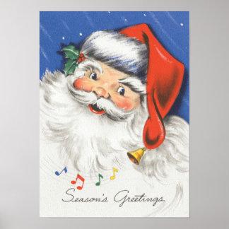 Música alegre de Papá Noel w del navidad del Poster