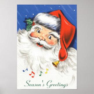 Música alegre de Papá Noel w del navidad del Impresiones