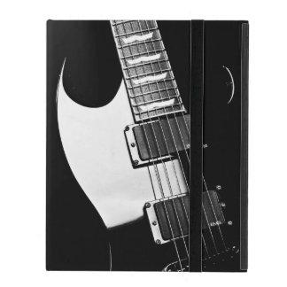 Música blanco y negro de la guitarra del monograma funda para iPad
