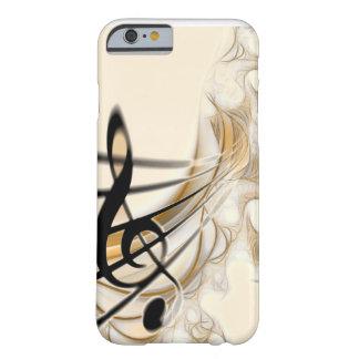 Música - clef agudo funda de iPhone 6 barely there